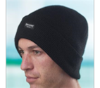 Black Thermal Beanie Hat