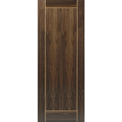 Walnut Flush with Oak Inlay Vina Door