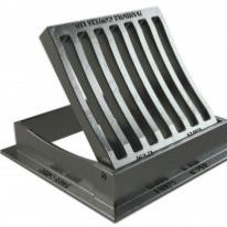 Square C250 Hinged Dished Gully Grate and Frame 300mm x 300mm