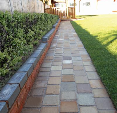 Aged Old Tumbled Setts 140x140x22mm - Sunset Blend