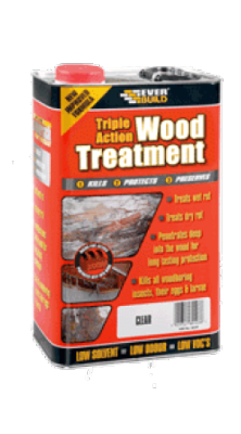 Everbuild Triple Action Rot & Woodworm Treatment 5ltr