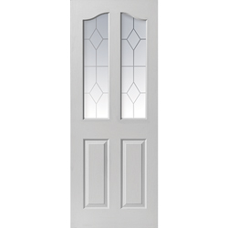 Edwardian White Glazed Door