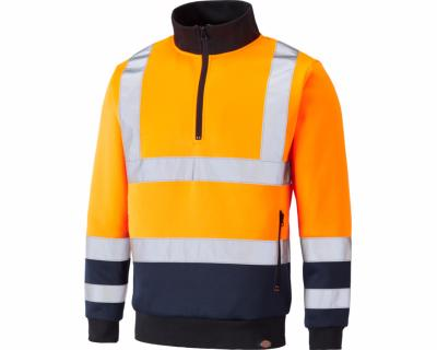 Dickies High Visibility Two Tone Sweat - Orange/Navy SA22092