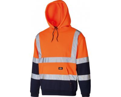 Dickies High Visibility Two Tone Hoodie - Orange/Navy (SA22095)