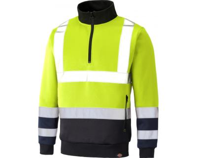 Dickies High Visibility Two Tone Sweat - Yellow/Navy SA22092