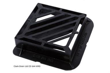 415 X 415 D400 Double Triangular Gully Grating & Frame