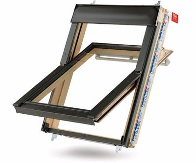 Keylite Centre Pivot Roof Window with Hi-Therm Glazing  - Pine Finish