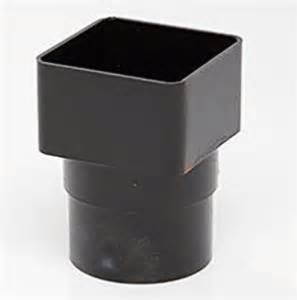 Polypipe 68mm Square - Round Downpipe Adaptor RS231