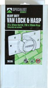 Specialist Heavy Duty Van Lock and Hasp (loose) 26235