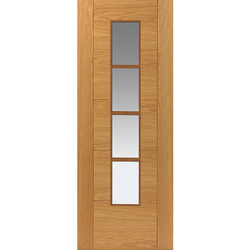 River Oak Modern Bela Glazed Door