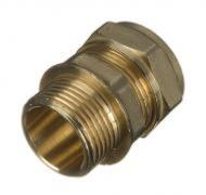 Compression Straight Male Connector 22mm x 1""