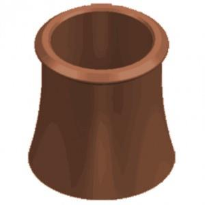 Red Roll Top Chimney Pot 600mm
