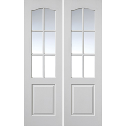 Classique White Glazed Door Pair