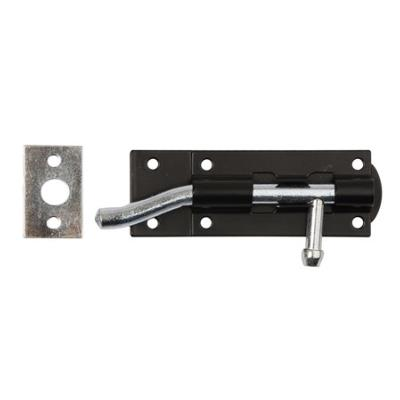 Dale Hardware Necked Tower Bolt - Black Epoxy Coated