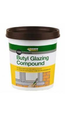 Everbuild 102 Premium Butyl Glazing Compound 2kg - Brown