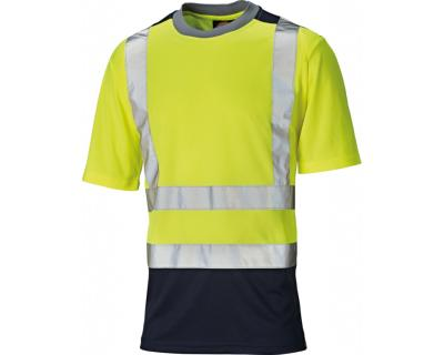 Dickies High Visibility Two Tone T-Shirt - Yellow/Navy (SA22081)