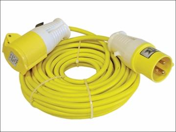 110v 1 Gang Extension Lead 14mtr (1.5mm) - Yellow