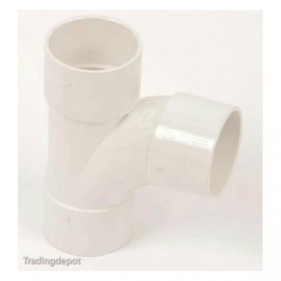 Polypipe White Solvent Weld Waste Pipe ABS 92.5 deg Swept Tee