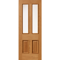 Royale E14-2VM Oak Glazed Door