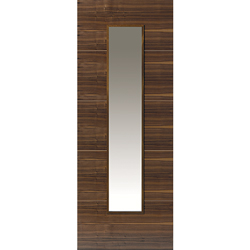 Parisienne Walnut Glazed Door