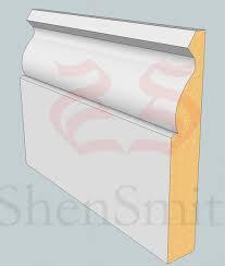 Primed MDF Ogee Skirting 119 x 18mm