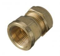 Compression Straight Female Connector 22mm x 1""