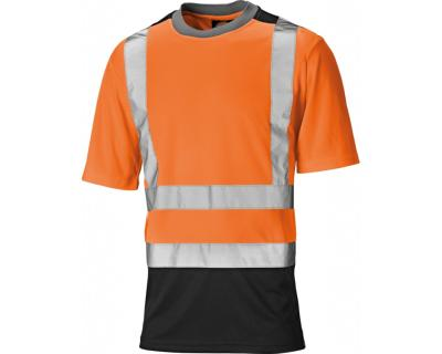 Dickies High Visibility Two Tone T-Shirt - Orange/Navy (SA22081)