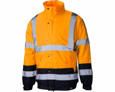 Dickies High Visibility Two Tone Pilot Jacket - Orange/Navy