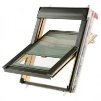Keylite Centre Pivot Roof Window with Thermal Glazing and Integral Blind - Pine Finish