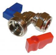 Washing Machine Valve - Angled Chrome Plated